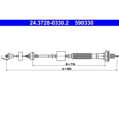 ATE Clutch Cable 24.3728-0330.2