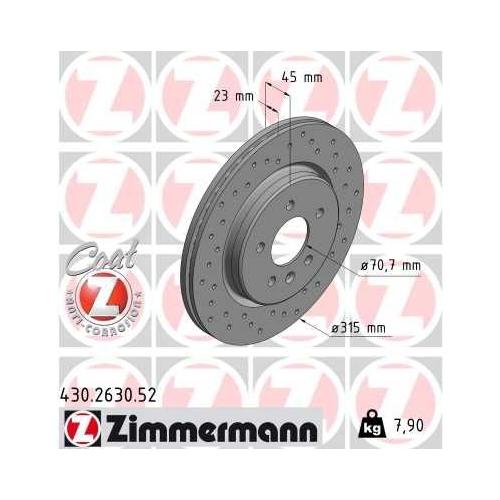 ZIMMERMANN Brake Disc 430.2630.52