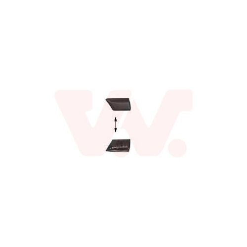 Trim/Protective Strip, wing VAN WEZEL 5880421 VW