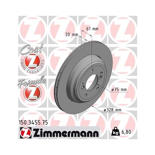 ZIMMERMANN Brake Disc 150.3455.75