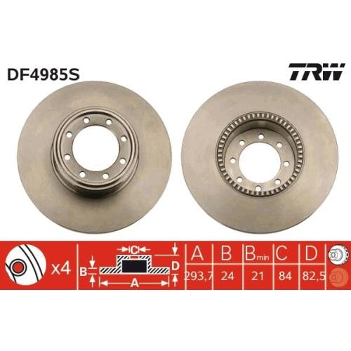 Brake Disc TRW DF4985S IVECO