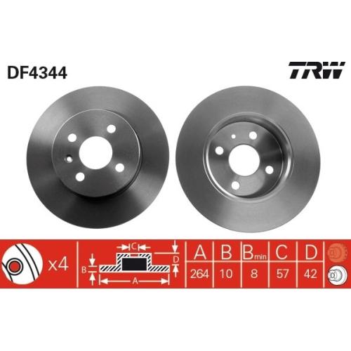 TRW Bremsscheibe DF4344