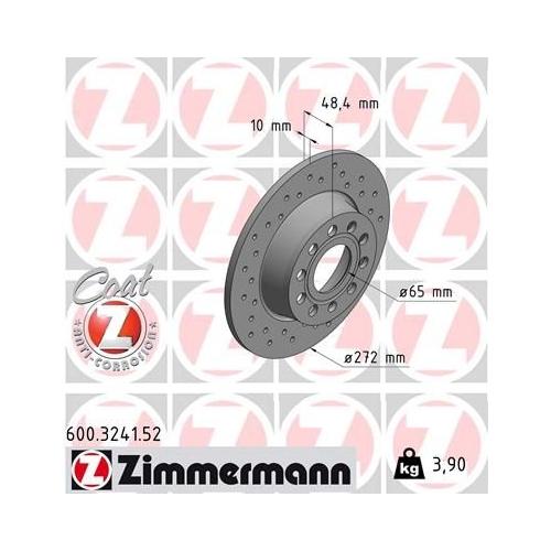 ZIMMERMANN Brake Disc 600.3241.52