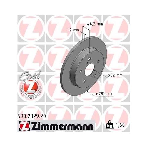 ZIMMERMANN Brake Disc 590.2829.20