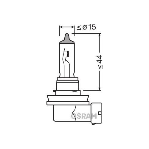 Glühlampe Glühbirne OSRAM H11 55W/12V Sockelausführung: PGJ19-2 (64211)