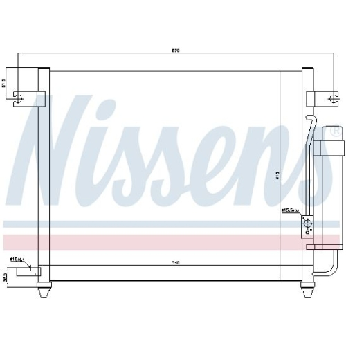 Kondensator, Klimaanlage NISSENS 94640 GMC CHEVROLET DAEWOO