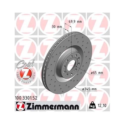 ZIMMERMANN Brake Disc 100.3301.52