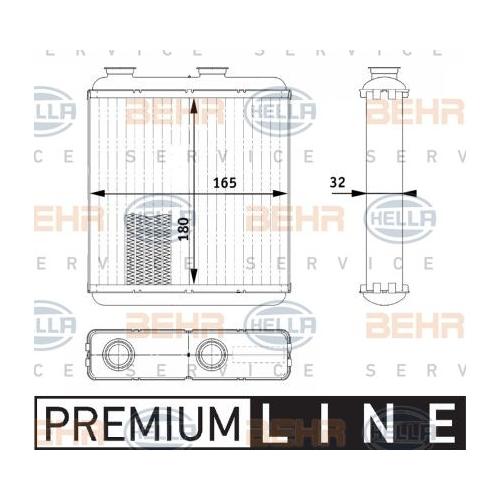 Heat Exchanger, interior heating HELLA 8FH 351 311-231 OPEL VAUXHALL