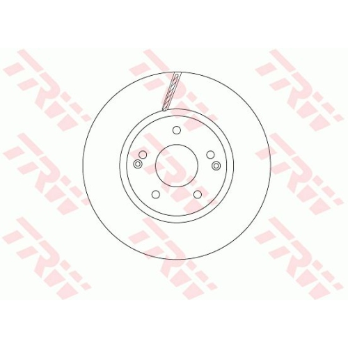 Brake Disc TRW DF6804 SSANGYONG