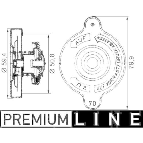 Sealing Cap, radiator MAHLE CRB 15 000P BEHR *** PREMIUM LINE *** MAN