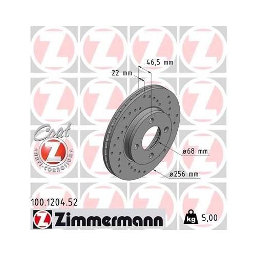 ZIMMERMANN Brake Disc 100.1204.52