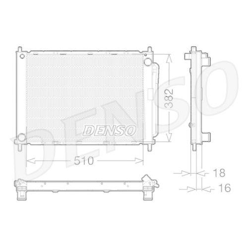 Cooler Module DENSO DRM23100 RENAULT