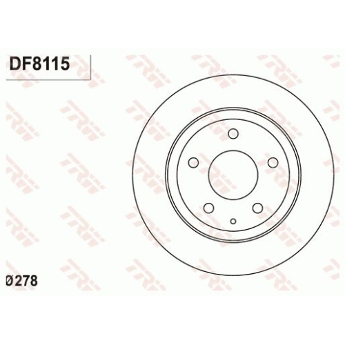 TRW Brake Disc DF8115