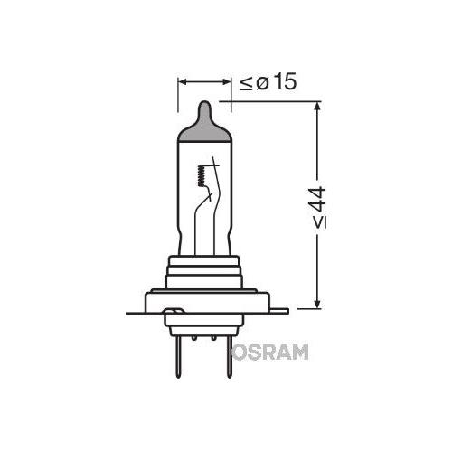 Glühlampe Glühbirne OSRAM H7 55W/12V Sockelausführung: PX26d (64210SV2)