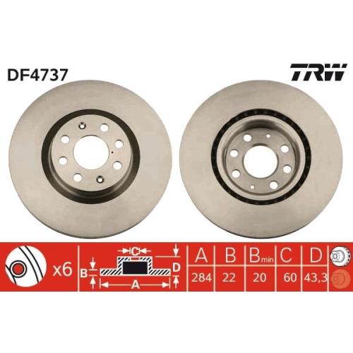 TRW Brake Disc DF4737