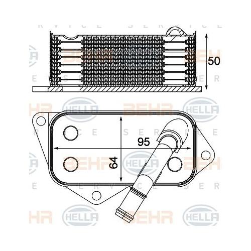 Oil Cooler, engine oil HELLA 8MO 376 714-804 BMW