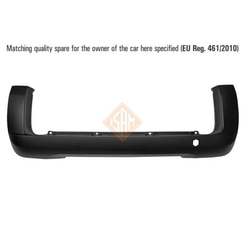 ISAM 0146121 Stoßfänger Stoßstange hinten für Fiat Qubo/Fiorino