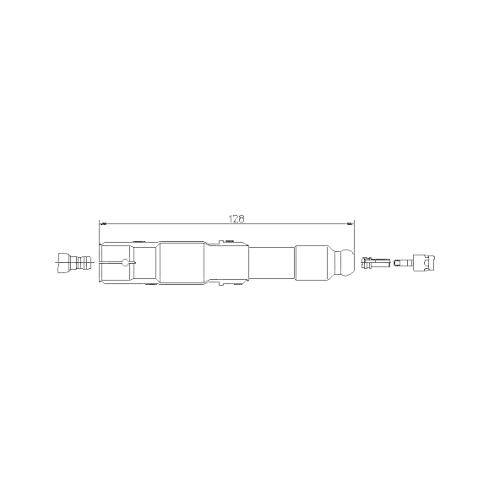 Stecker, Zündkerze BREMI 13229/1 MERCEDES-BENZ