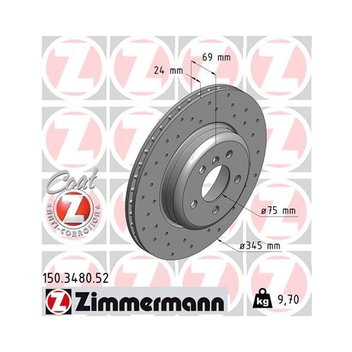 ZIMMERMANN Brake Disc 150.3480.52