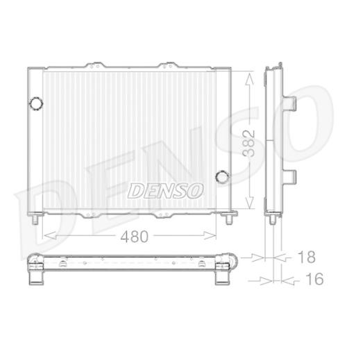 DENSO Radiator, engine cooling DRM23099