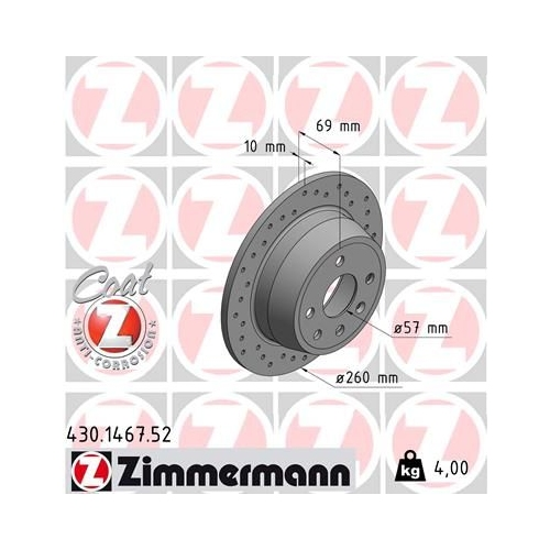 ZIMMERMANN Brake Disc 430.1467.52