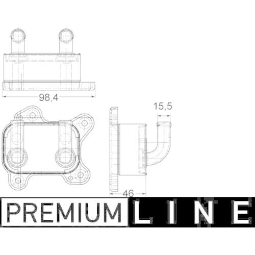 Oil Cooler, engine oil MAHLE CLC 168 000P BEHR *** PREMIUM LINE *** OPEL