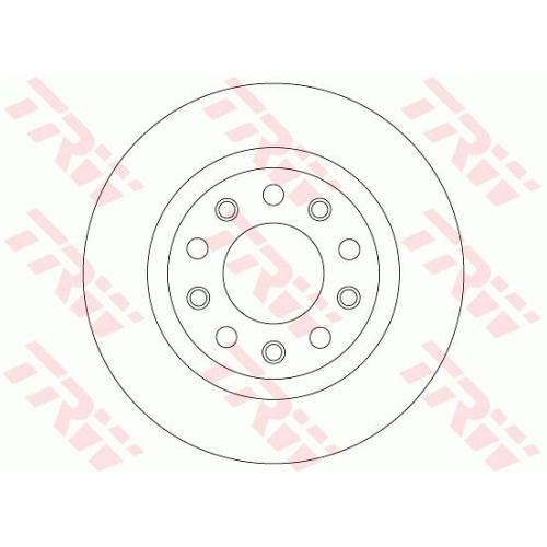 TRW Brake Disc DF8070