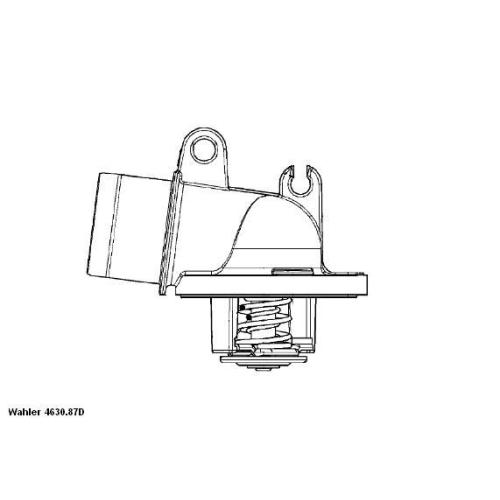 Thermostat, coolant BorgWarner (Wahler) 4630.87D MERCEDES-BENZ JEEP