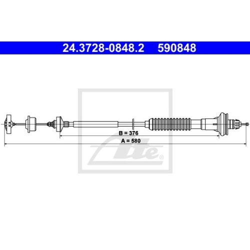 ATE Clutch Cable 24.3728-0848.2