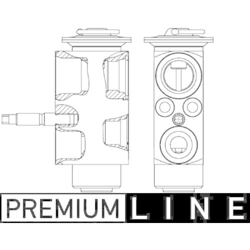 Expansionsventil, Klimaanlage MAHLE AVE 113 000P PREMIUM LINE BMW MINI