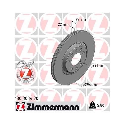 ZIMMERMANN Brake Disc 180.3034.20