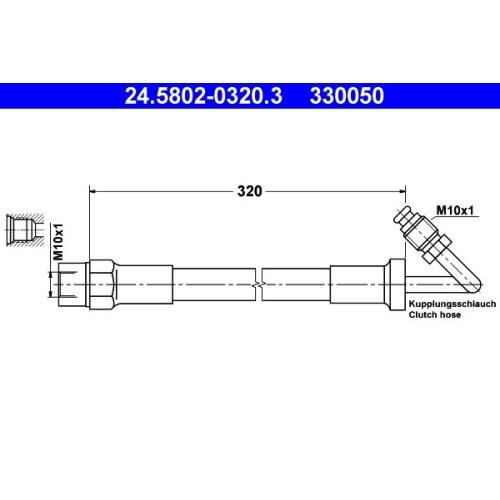 Kupplungsschlauch ATE 24.5802-0320.3 BMW