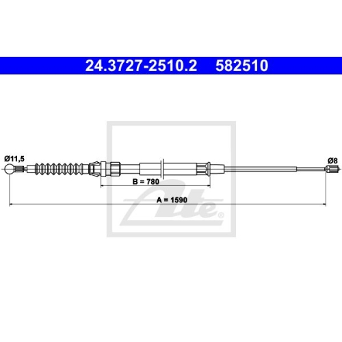 ATE Cable, parking brake 24.3727-2510.2