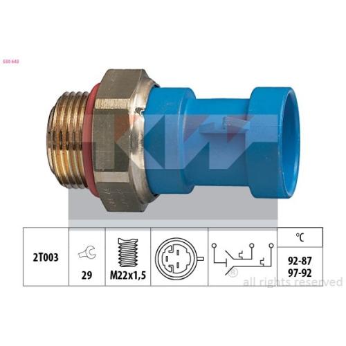 Temperaturschalter, Kühlerlüfter KW 550 643 Made in Italy - OE Equivalent