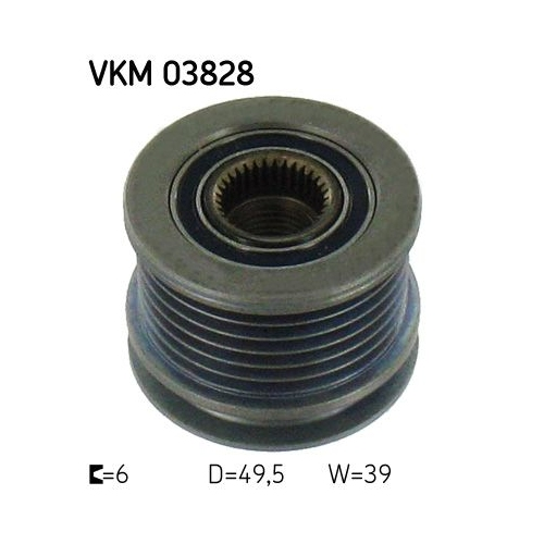 Alternator Freewheel Clutch SKF VKM 03828 MERCEDES-BENZ