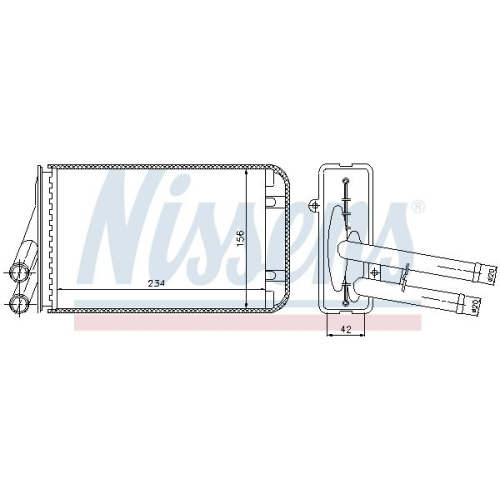 Heat Exchanger, interior heating NISSENS 70229 AUDI SKODA VW