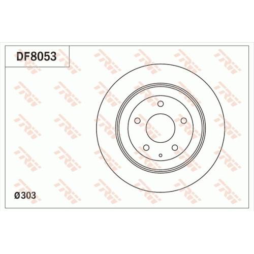 TRW Brake Disc DF8053