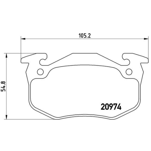 Brake Pad Set, disc brake BREMBO P 61 032 CITROËN PEUGEOT RENAULT HSV