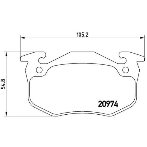 BREMBO Brake Pad Set, disc brake P 61 032