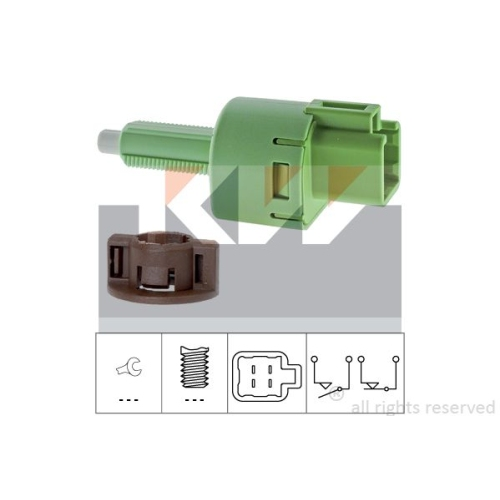 Brake Light Switch KW 510 254 Made in Italy - OE Equivalent CITROËN DAIHATSU