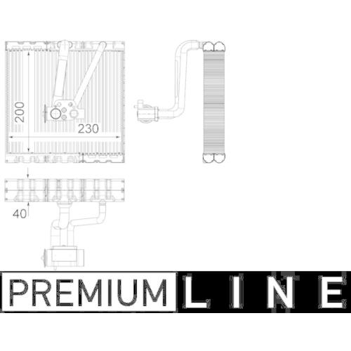Evaporator, air conditioning MAHLE AE 93 000P BEHR *** PREMIUM LINE *** AUDI VAG
