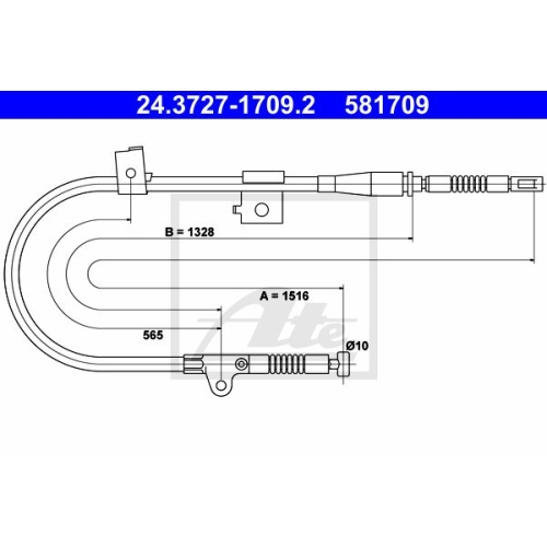ATE Cable, parking brake 24.3727-1709.2