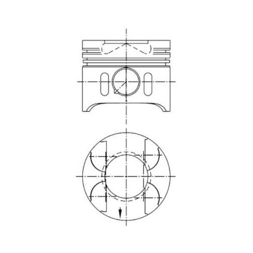Piston KOLBENSCHMIDT 41014600 MERCEDES-BENZ
