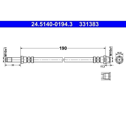 ATE Schlauchleitung 24.5140-0194.3