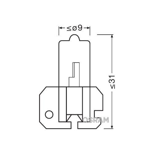Glühlampe Glühbirne OSRAM H2 55W/12V Sockelausführung: X511 (64173)