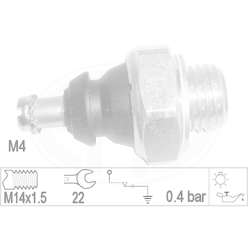 Oil Pressure Switch ERA 330892 MERCEDES-BENZ PUCH