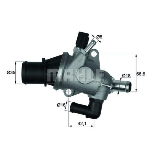 Thermostat, coolant BEHR TI 163 88 FIAT
