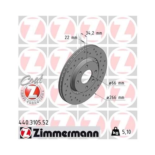 ZIMMERMANN Brake Disc 440.3105.52