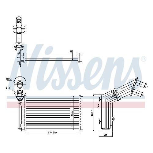 Wärmetauscher, Innenraumheizung NISSENS 73973 FORD SEAT VW