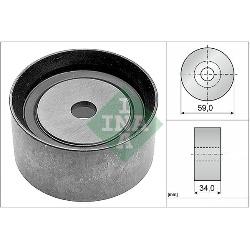 Deflection/Guide Pulley, timing belt INA 532 0586 10 AUDI